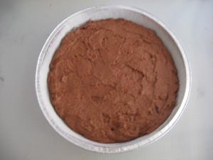 Italian dessert recipe - Caprese Step 9: Spead mixture evenly in cake pan