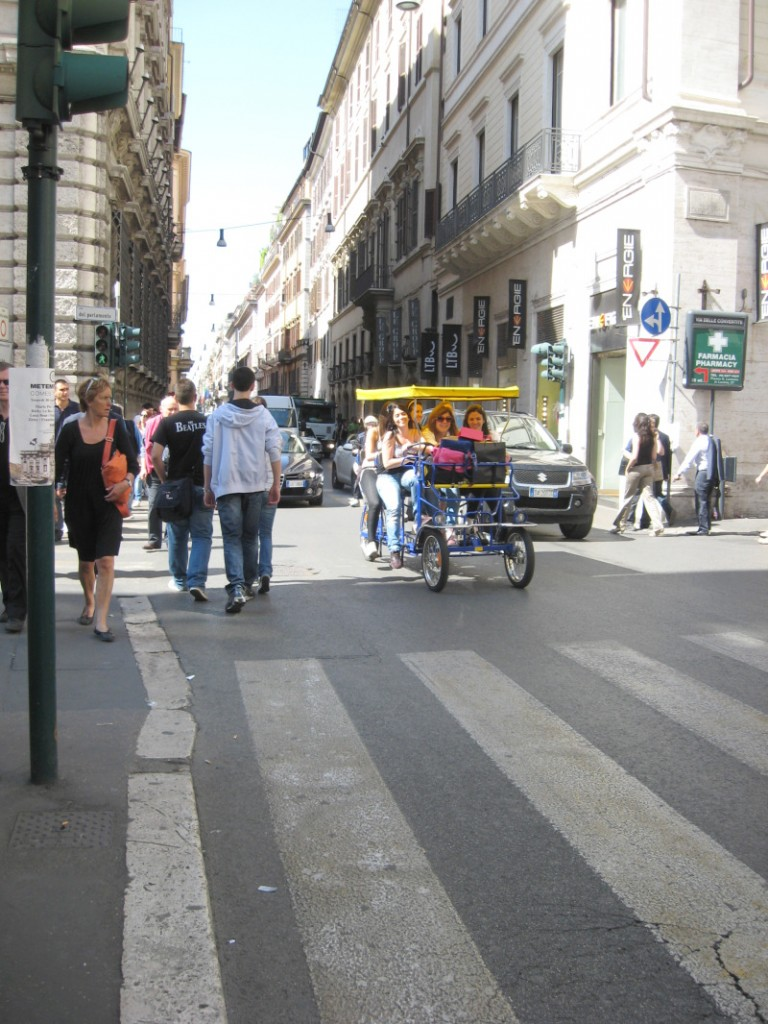Pictures of Rome - Another rickshaw