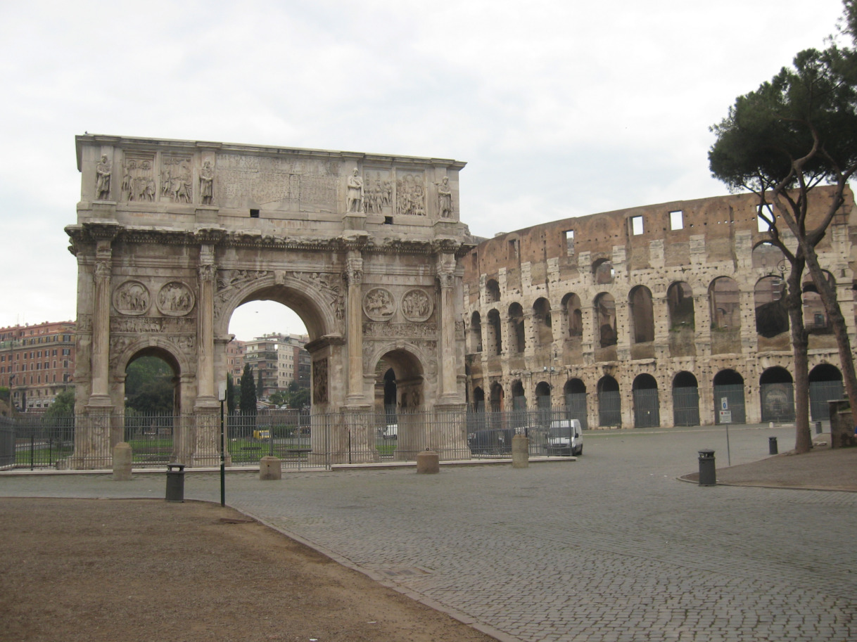 Arch of Constantine in the shadows
