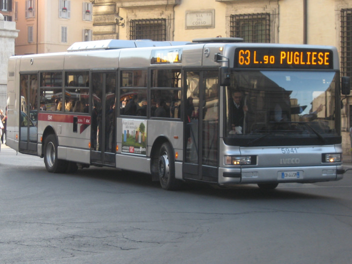 On a bus in Rome…