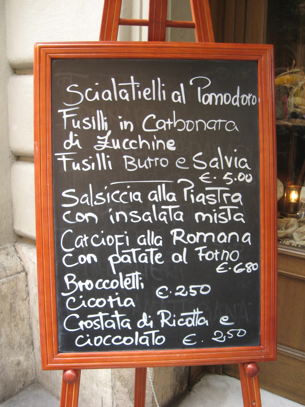 Rome restaurants – L'Osteria di Cicerone
