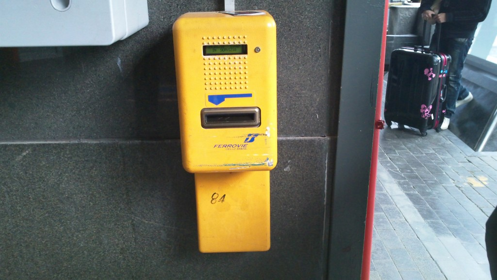 Look out for these yellow validation machine