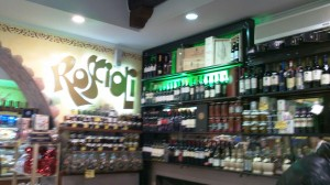 Variety of Wines at Rosciolo, Piazza Vittorio Rome Italy