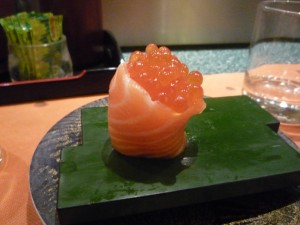 Salmon with Caviar, Sushisen, Rome, Italy