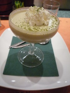 Green Tea Panna Cotta at Sushisen, Rome, Italy