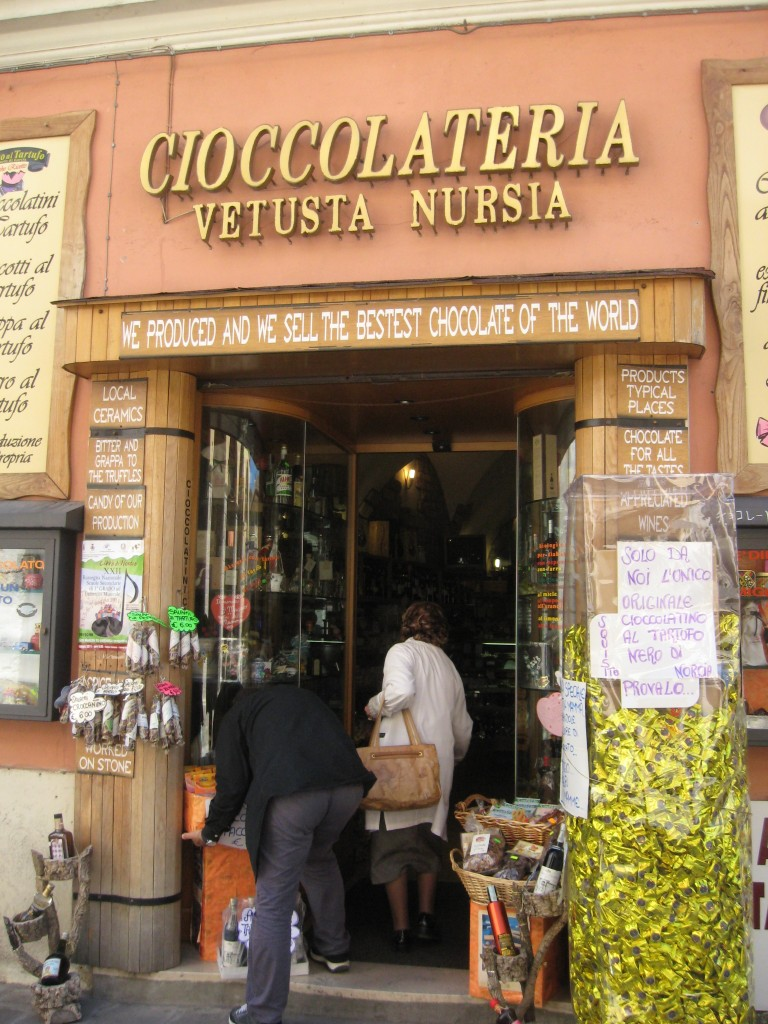 Umbria Towns - Norcia Chocolate Shop