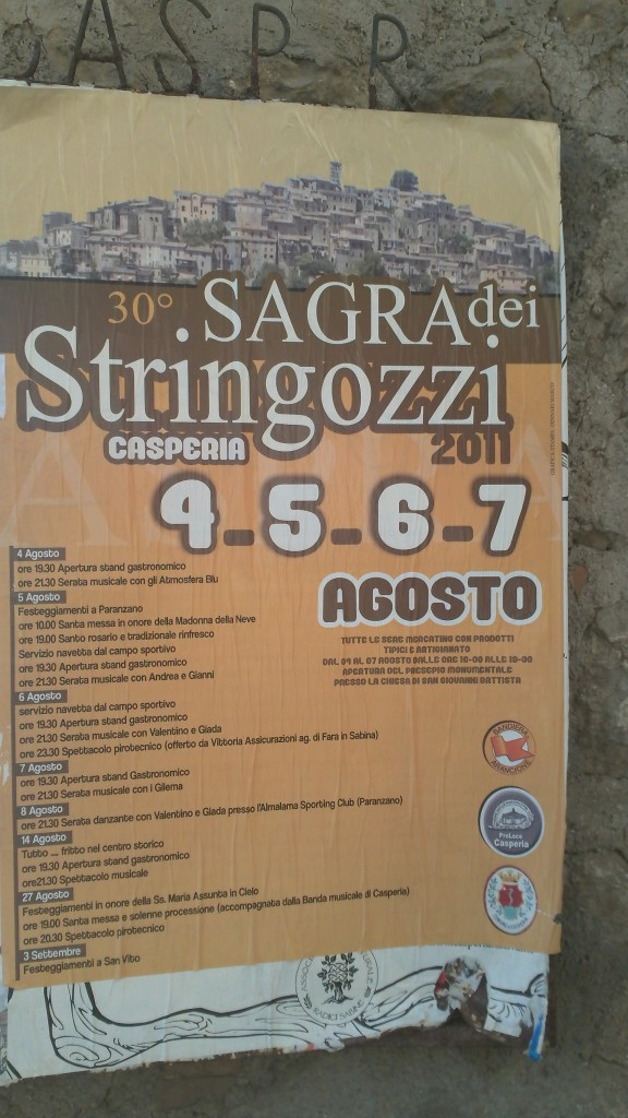 Sagra Flyers in Casperia