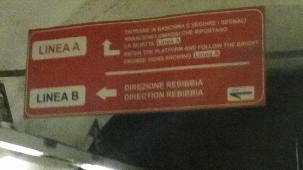 Rome Public Transport: Termini Station to Linea B