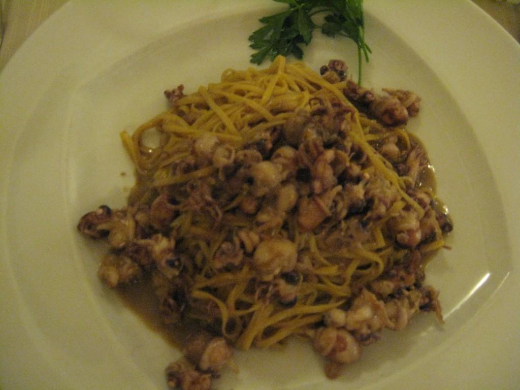 Restaurant in Rome - Taglioni con Moscardini