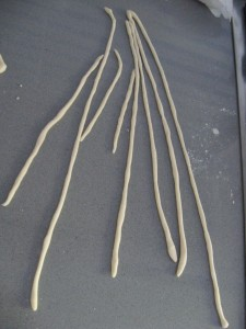 Fresh Pasta Recipe-Pici dough strips