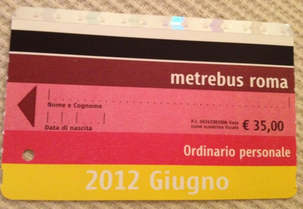 Public transport in Rome: New Monthly Ticket