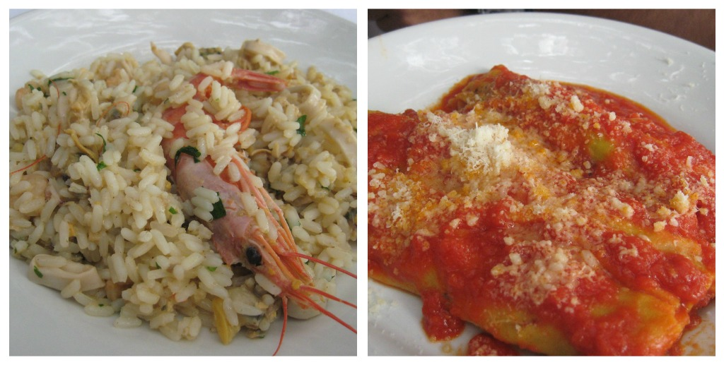 Lunch at Bracciano - Risotto and Cannelloni