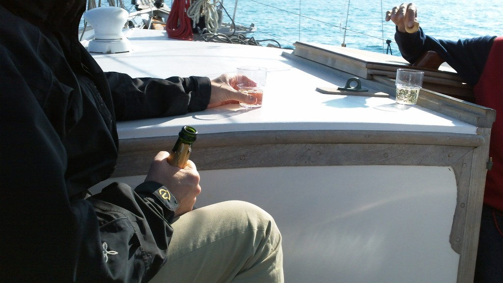 Living in Rome: Sailing - Breaking out the Champagne