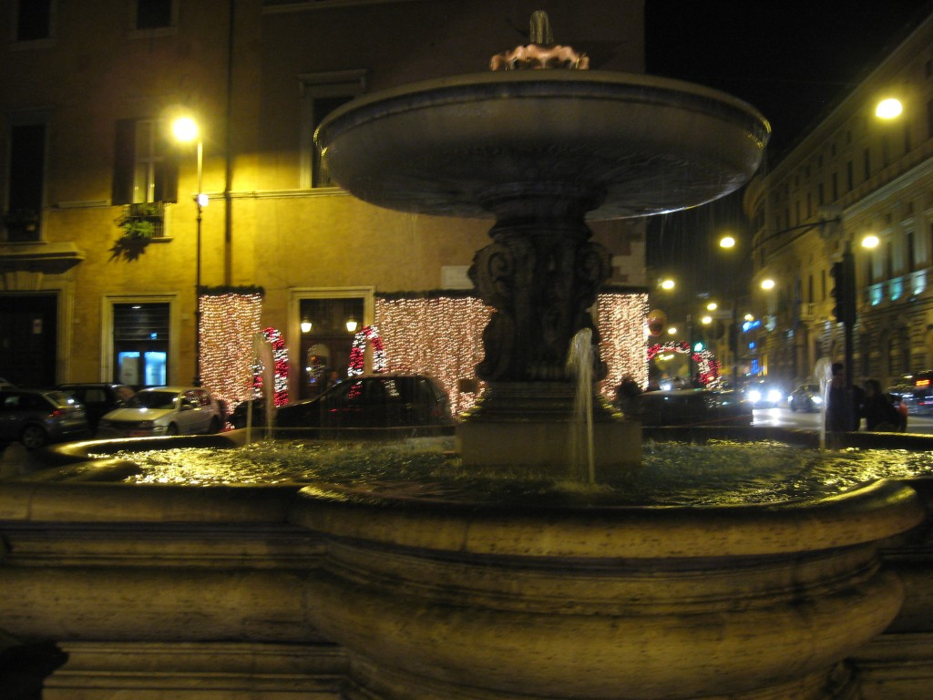 Shops lit up for Christmas in Rome