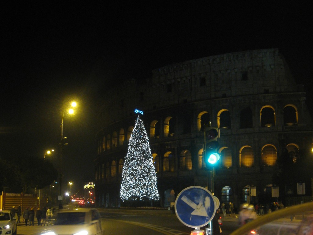 Christmas Tree at Colosseum, Rome