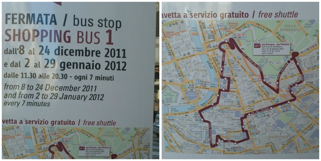 Shopping in Rome: Shopping Bus Route