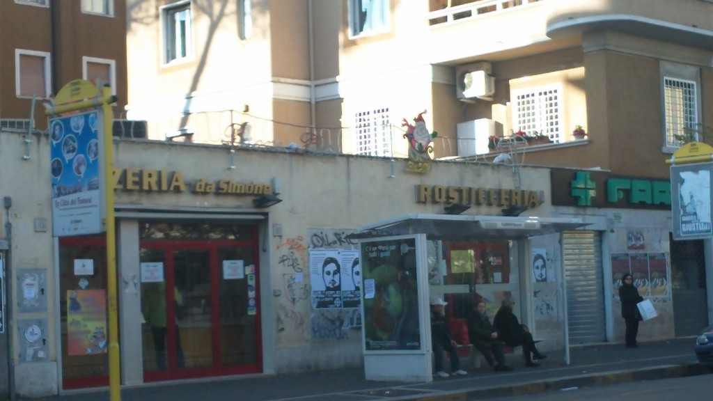 Pizza in Rome: Pizzeria da Simone - Entrance