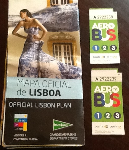 Things to do in Lisbon: Aerobus and Map of Lisbon