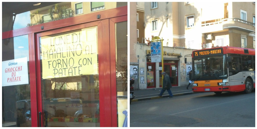 Pizza in Rome: Pizzeria da Simone - Next to the bus stop