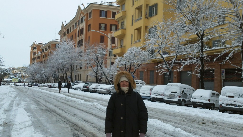Snow in Rome 2012: All Covered