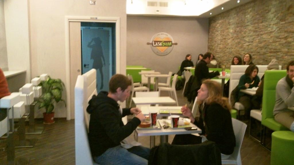 Quick Bites in Rome: Lasagnam - Dining Area