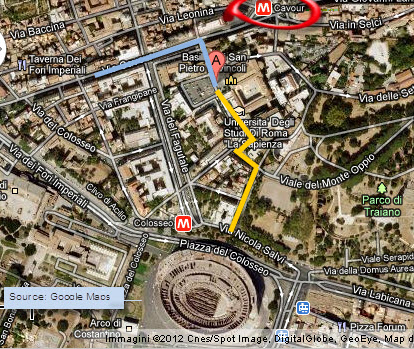 Attraction in Rome: St. Peter in Chains - Map