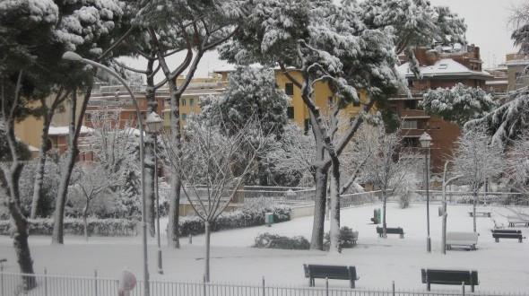 Snow in Rome 2012