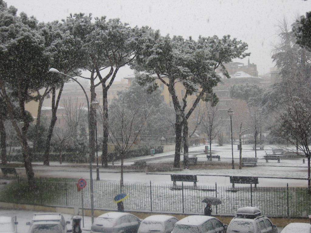 More Snow in Rome: Blanket of White