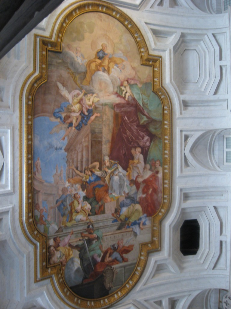 attraction in rome: St Peter in Chains - Ceiling