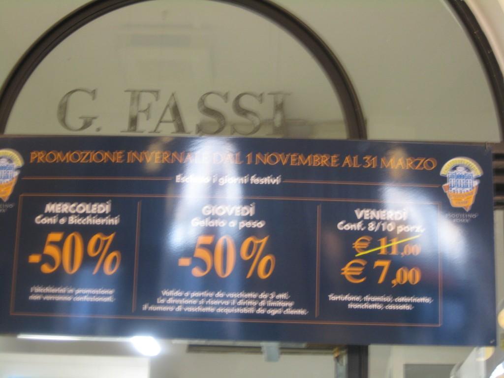 Gelato in Rome: Fassi - Offers