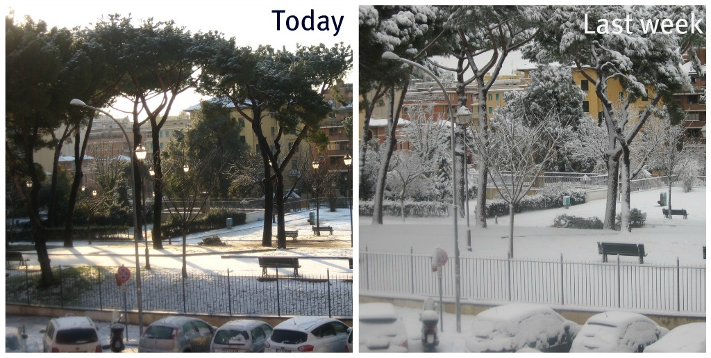 More Snow in Rome: Not really