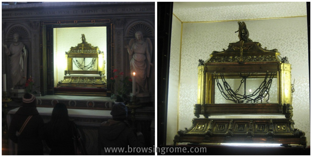 Attraction in Rome: St. Peter in Chains - Relics