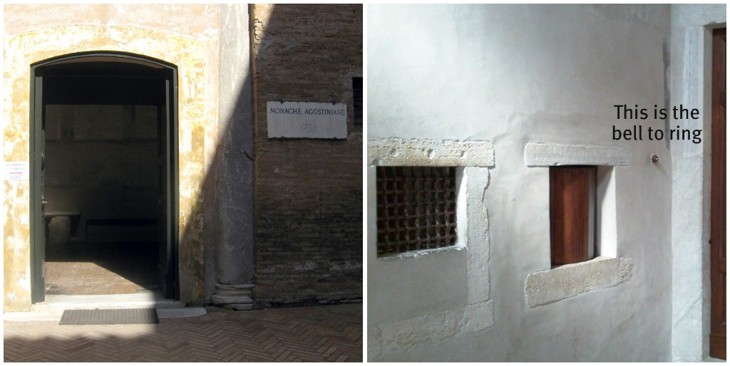 Attraction_in_Rome_Santi_Quattro_Coronati_Chapel_Entrance
