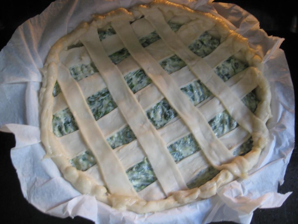Torta rustica: Spinaci e ricotta -Pour mixture
