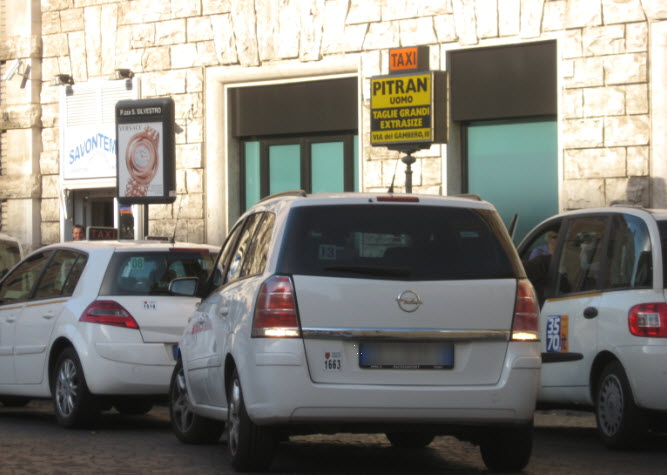 Taxis in Rome: Main