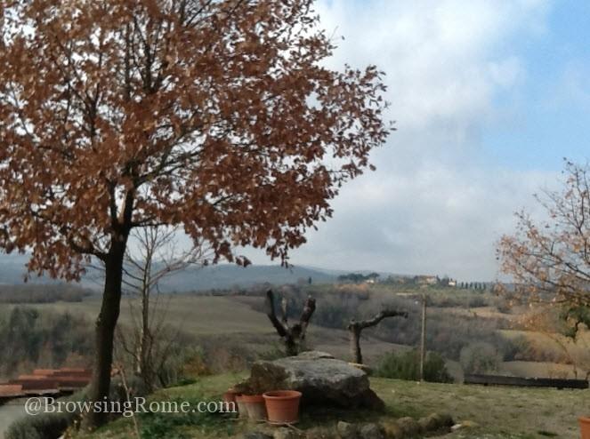 Tuscan Food: Scenery