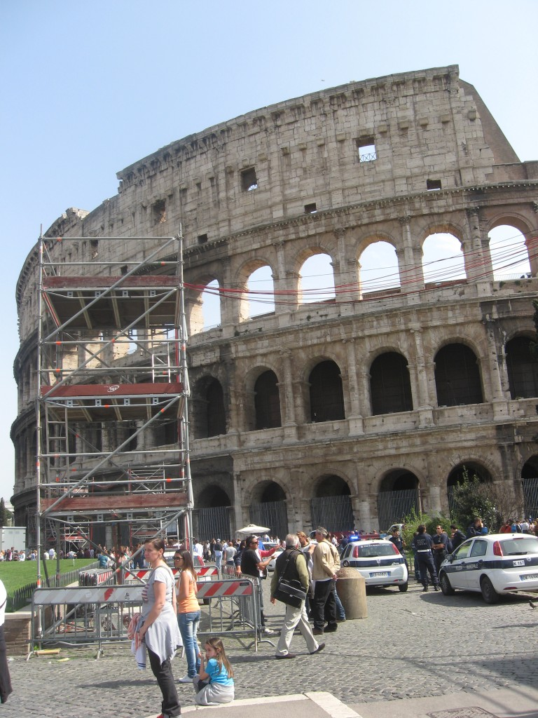 Easter in Rome: Preparations at Colosseum for Stations of the Cross