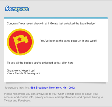 Il Gelato di Claudio Torce: Foursquare Local Badge