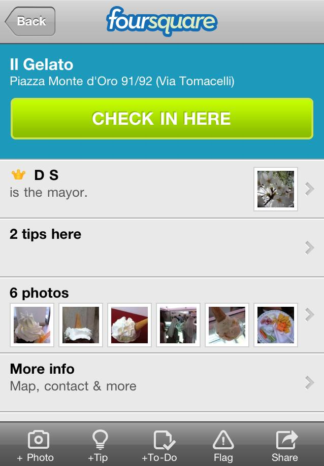 Il Gelato di Claudio Torce: Foursquare Mayor