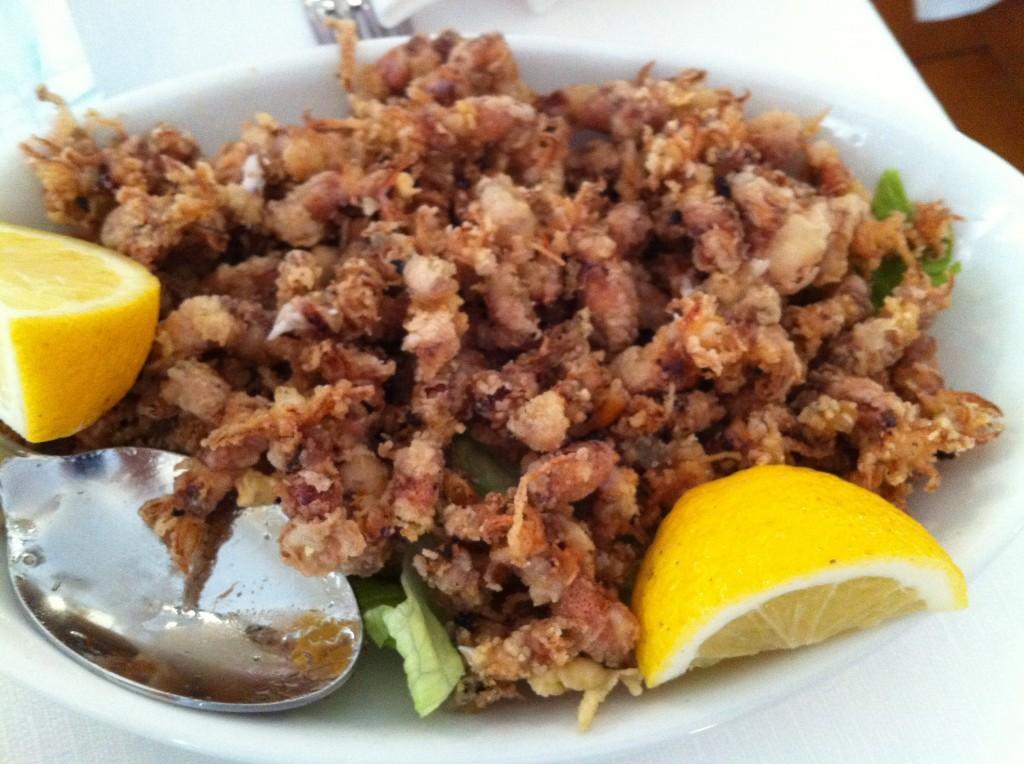 Lunch at Porto Corallo: Moscardini Fritti