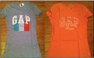 Shopping in Rome: Gap