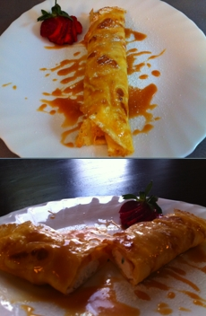 Homemade meals in Rome: Crepe