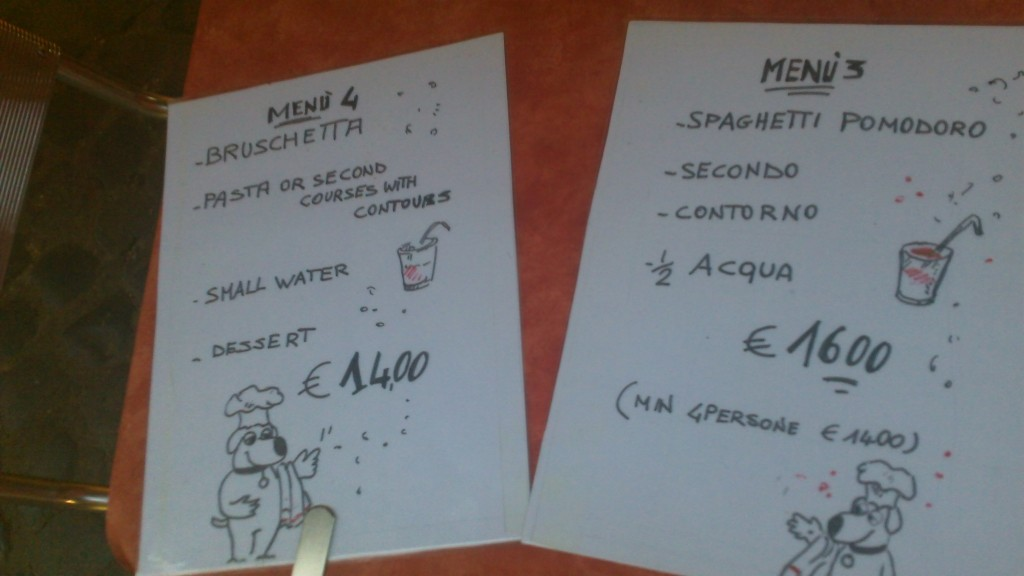 Tourist Menu in Rome - Not recommended!
