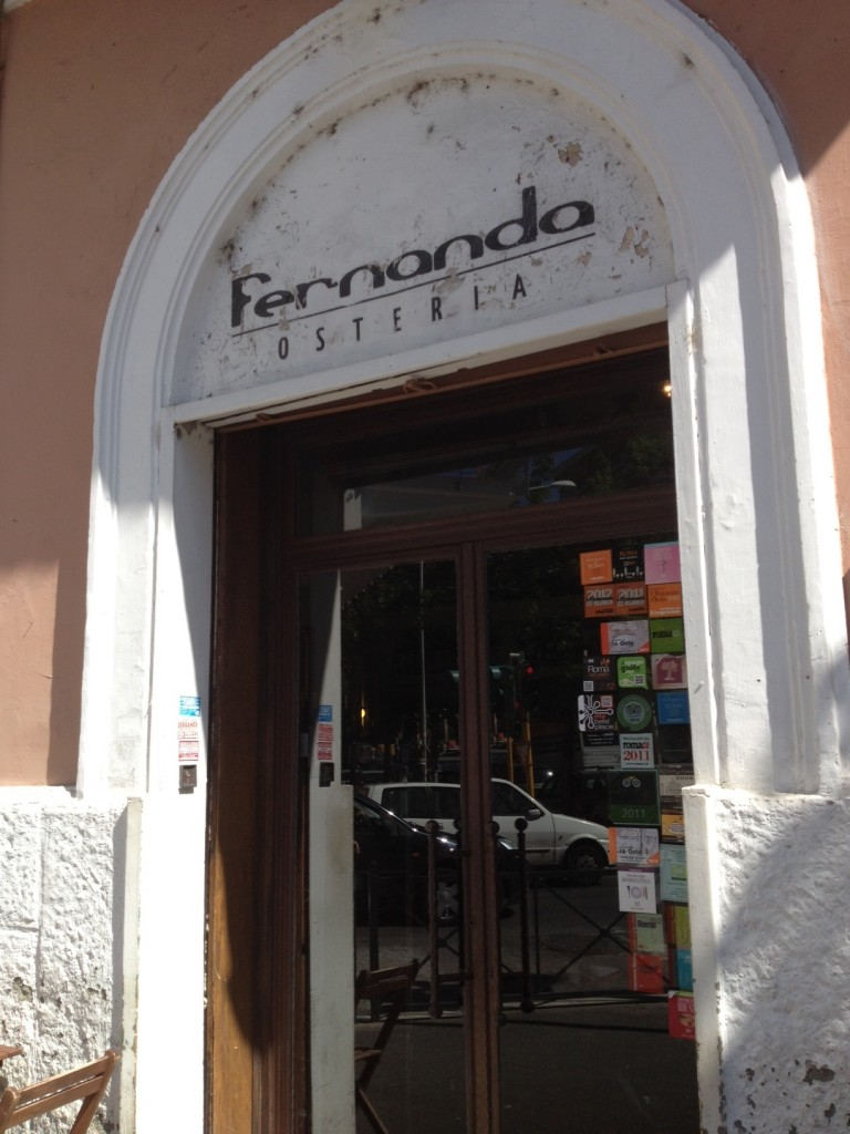 Lunches in Rome: Osteria Fernanda