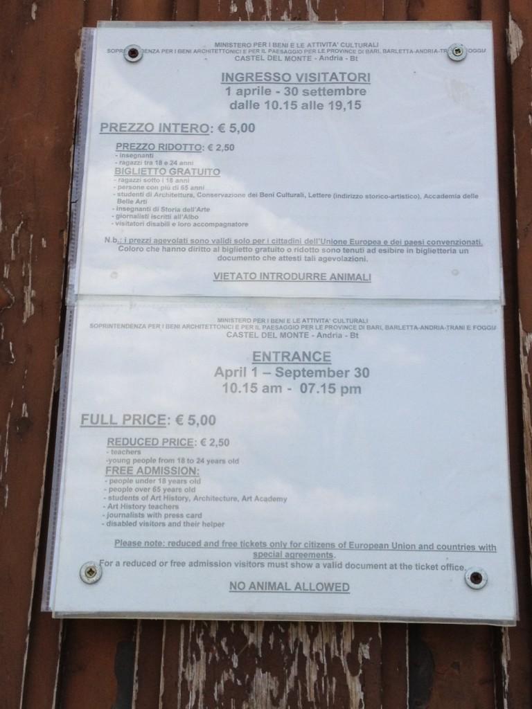 Castel del Monte - Information
