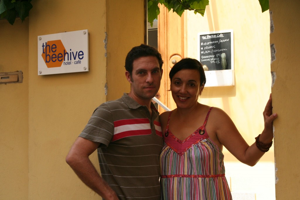 Budget accommodation in Rome - The BeeHive owners Linda and Steve