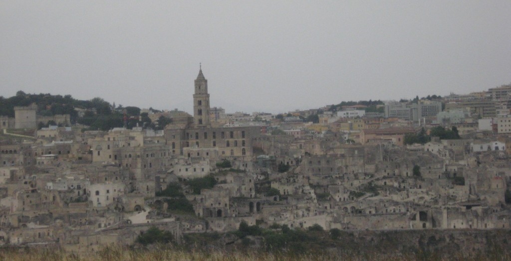 Matera Italy: View from the Murgia Materana Park