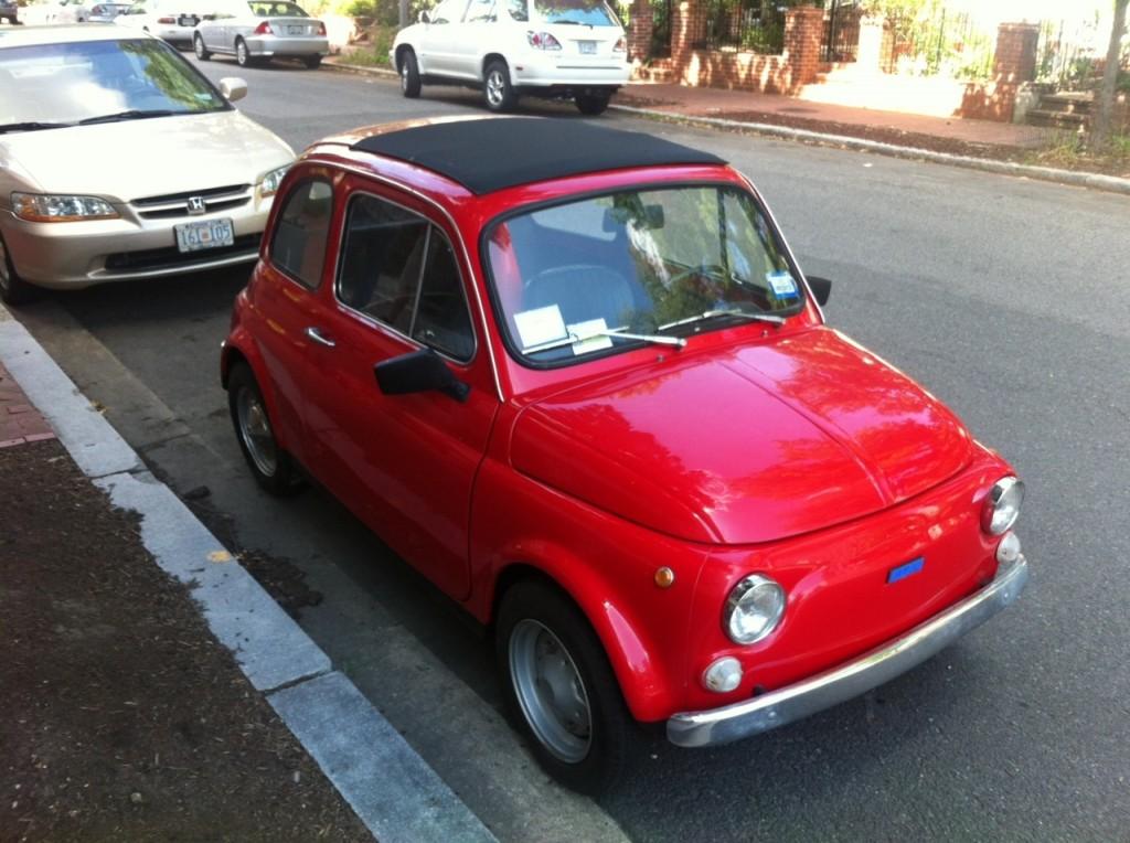 Red Vintage Fiat 500 in Washington DC