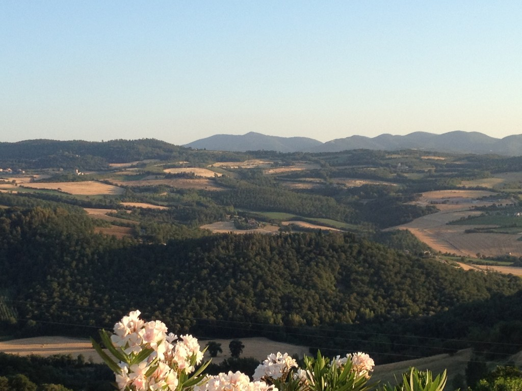 Todi - Hotel Bramante - View from Dinner