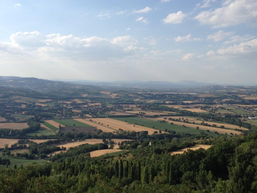 View from Giardini Oberdan - Todi, Italy